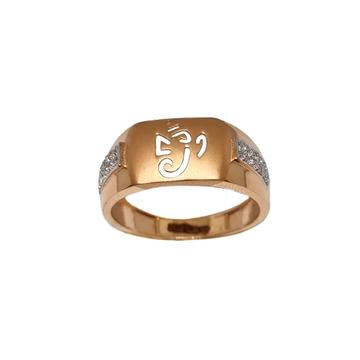 18K Rose Gold Ganesh Gents Ring MGA - GRG0261
