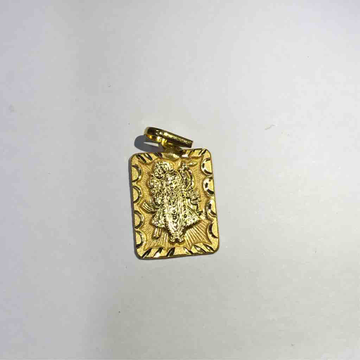 18ct plain gold shreenathji Pendant