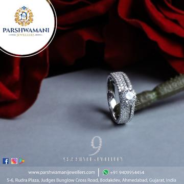 92.5 Sterling Silver  Cz Fancy ring for Women