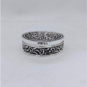 Real Silver Box for Gifting In Antique Oval Shape...