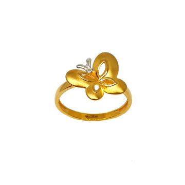 22K Gold Butterfly Shaped Designer Ring MGA - LRG1057