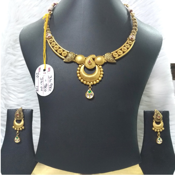 22KT Gold Stylish Bridal Necklace Set