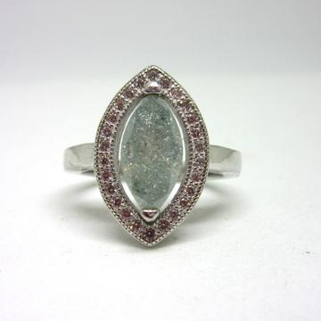 Silver 925 marquise rare stone ring sr925-89