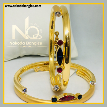 916 Gold Pipe Bangles NB - 527