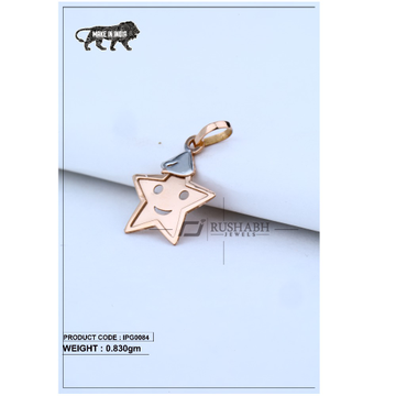 18 Carat Italian pendent rose gold star shape ipg0084
