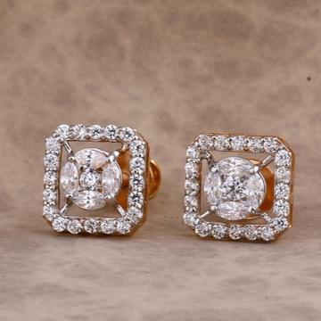 18 carat rose gold delicate hallmark ladies earrin...