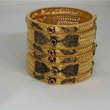 22kt 916 exclusive antique bangle by Prakash Jewellers