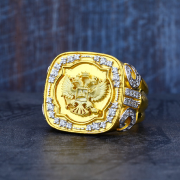 Mens 916 Exclusive Heavy Fancy Gold Ring-MR16