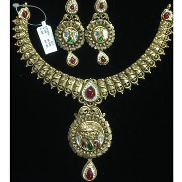 916 gold antique necklace set