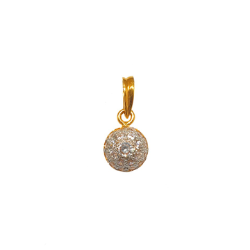 22K Gold Diamond Pendant MGA - PDG0235