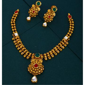 916 gold hallmark kundan Antique necklace set