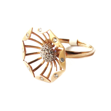 18k rose gold flower shape ring mga - rgr0041