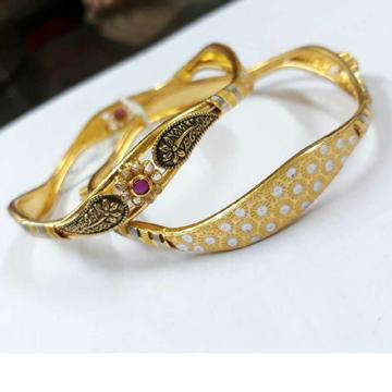 22KT Gold Designer Ladies Bangle