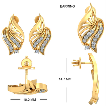 22Kt Yellow Gold Abhirami Earrings For Women