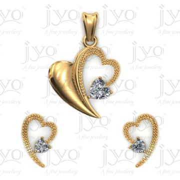 18Kt Joy studded stone light weight pendant set