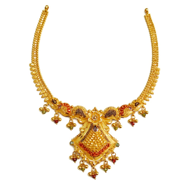 916 Gold Kalkatti Designer Necklace MGA - GN067
