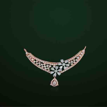 18KT Rose Gold Fancy Pink Mangalsutra Pendant