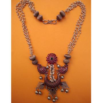 Otp designer toda crescent necklace in long multi...
