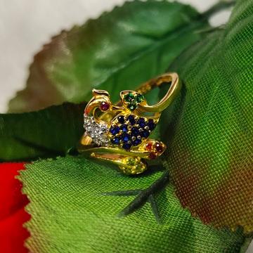 Ladies Gold peacock ring