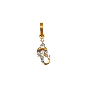 18K Gold Ganesh Pendant MGA - PDG0170