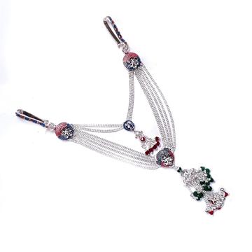 2 Clips Fancy Silver Kamar Belt MGA - JUS0072