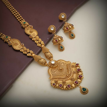 22KT / 916 Gold antique wedding Bridle long Neckla... by