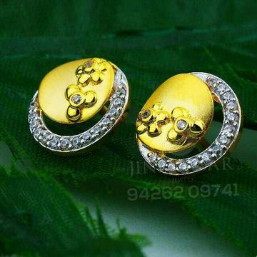 18kt Wonderful Cz Gold Ladies Tops ATG -0082