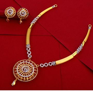 916 Gold Ladies Fancy Necklace Set LN259