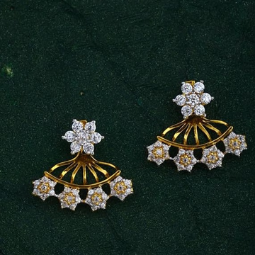 916 Gold CZ Folding earring RH-ER48