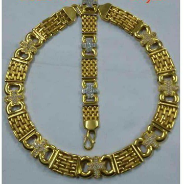 916 Gold Casting Chain & Lucky