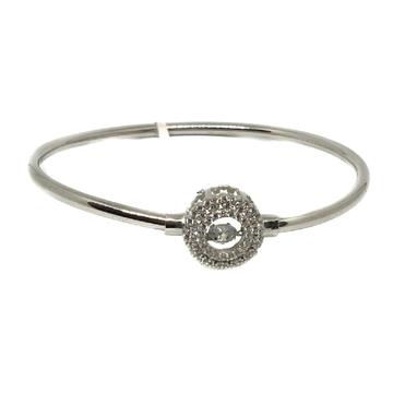 925 Sterling Silver CZ Diamond Round Shape Bracelet MGA - KRS0018