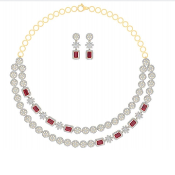 cz necklaces ruby touch