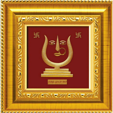 24 k gold devotional gift lord rani sati dadi photo frame rj-pga01