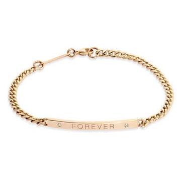 18kt rose gold forever chain bracelet for women jkb038