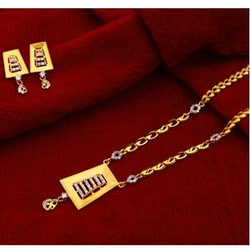 22 carat gold designer hallmark necklace set RH-NS564