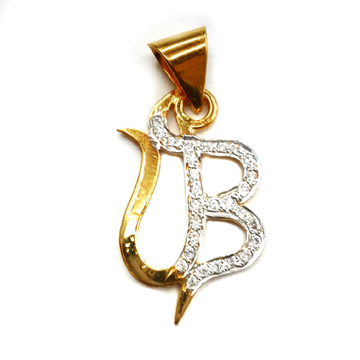 22k Gold Diamond UB Monogram Pendant MGA - MGP014