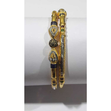 22KT Gold Antique Colorful Pipe Kadli by