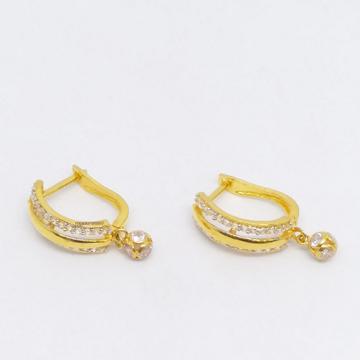 18 KT 750 Gold Daimond Hanging Latkan Earring type... by Zaverat