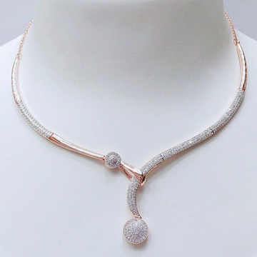 18KT Rose Gold Delicate Necklace For Women VJ-N014 by