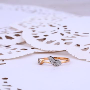 Ladies Delicate Rose Gold Ring-RLR321