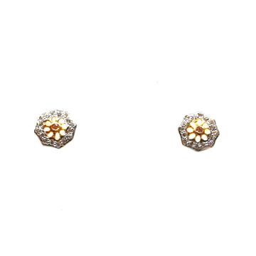 22K Gold Round Shaped Earrings MGA - BTG0032