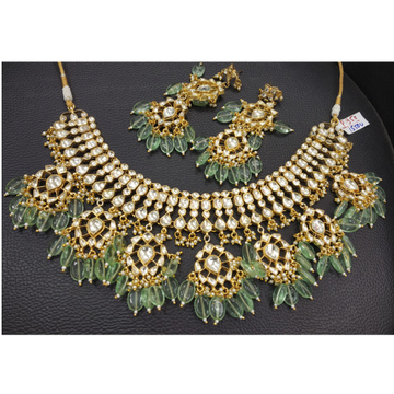 Designer Kundan Work Bridal Necklace Set