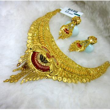 Broad culcutti gold hm916 necklace set