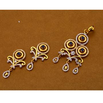 916 Gold ladies Hallmark Pendant Set FPS179