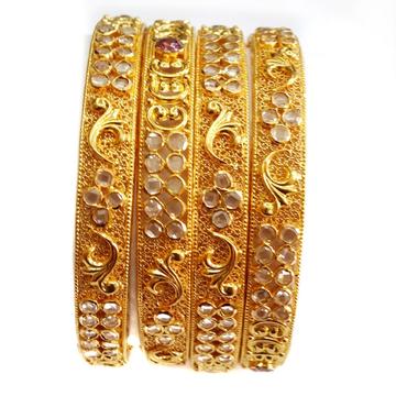 22k gold designer bangles kada 4 set mga - gp025