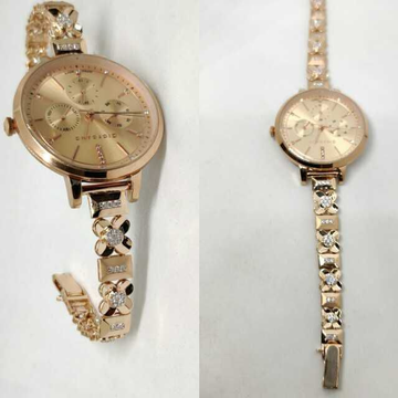 18k Ladies Fancy Rose Gold Watch G-2713