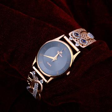 750 Cz Women's Fancy Rose Gold Watch RLW199