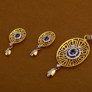 22 carat gold ladies pendants set RH-PS717