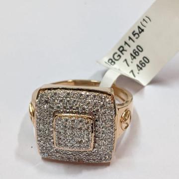 18KT Rose Gold Robust Noble Ring for Jens
