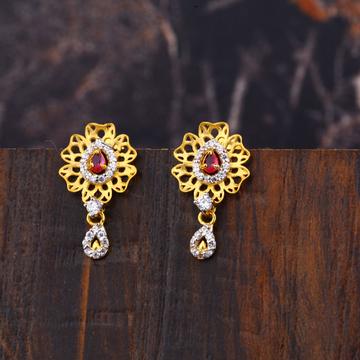 Ladies 916 Gold Fancy Earrings -LFE163